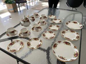 Royal Albert China Tea Set Country Rose Range