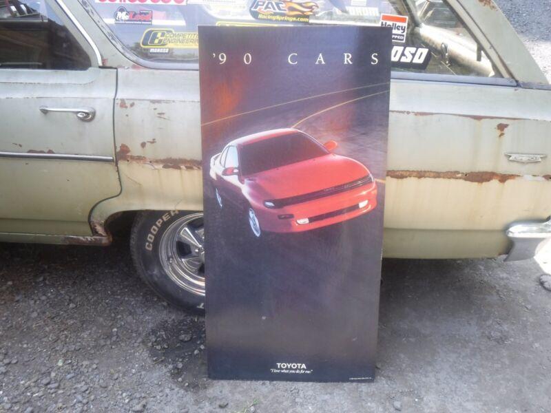 1990 TOYOTA CELICA 48x24 DEALERSHIP SHOWROOM SALES POSTER BOARD CAR DISPLAY