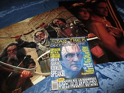 STAR TREK  , Deep Space Nine  # 9 , Film Magazin USA / Original , mit  POSTER /B