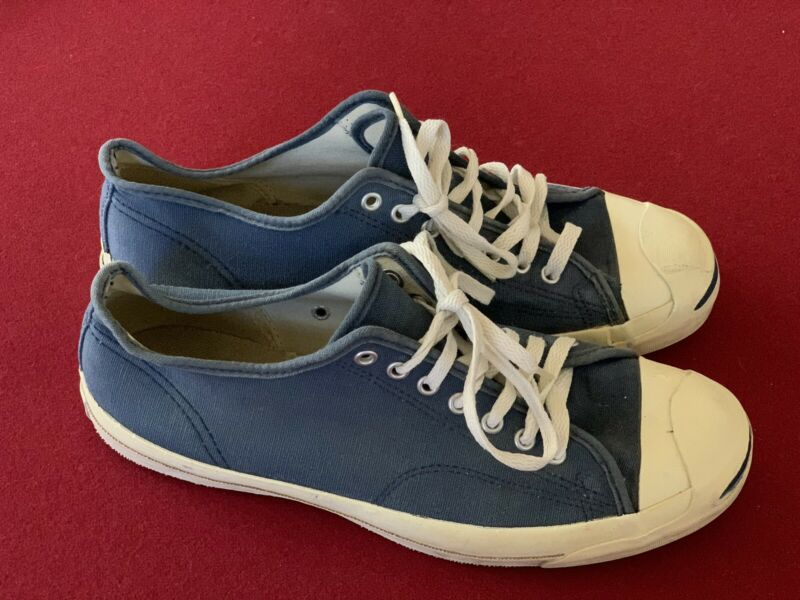 Vintage Made In USA 90s Jack Purcell Converse Navy Blue Men's Size 11