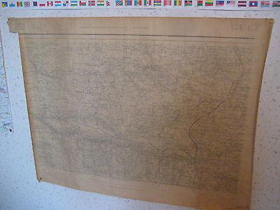 Carte plan topographique Gueret carroyage kilométrique projection Lambert