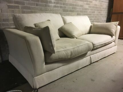 3 person sofa, professionally cleaned