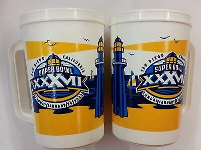 Super Bowl Mugs (NFL Super Bowl XXXVII 1-26-2003, 22oz Plastic Mugs, NEW (Set of 2)
