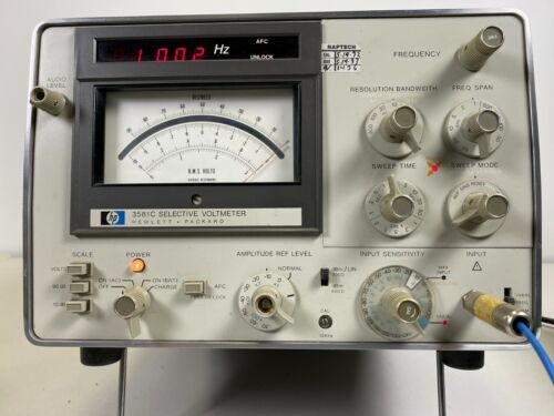 HP 3581C SELECTIVE VOLTMETER WAVE ANALYZER  VERY GOOD CONDITION