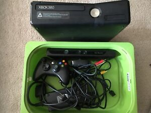 X-box 360 with Kinect and 4 Games