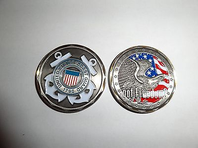 Coast Guard Challenge Coin - CHALLENGE COIN USCG US COAST GUARD GOT FREEDOM UNITED STATES REAL NICE COIN