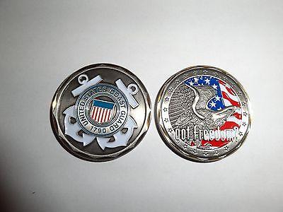 CHALLENGE COIN USCG US COAST GUARD GOT FREEDOM UNITED STATES