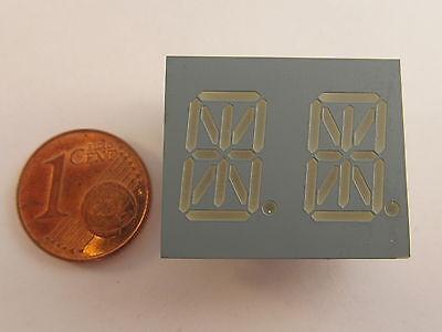 "13,8mm (0,543"") 14-Segment dual Display Kingbright PDA54-11YWA, gelb, gem.Anode"