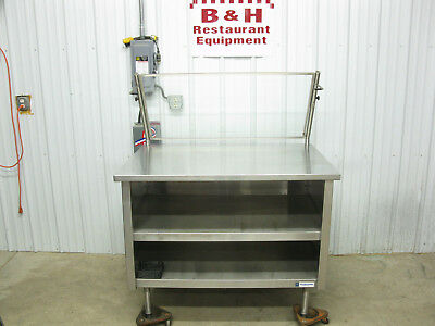 Amtekco 48 X 36 Stainless Steel Cabinet Work Prep Table W Sneeze Guard 4x3