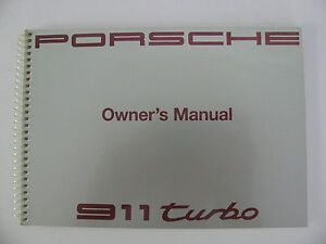 Porsche 911 964 930 turbo factory owner manual for all 1991 models