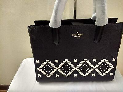 NWT Kate Spade Authentic Meriwether Street Meriwether Black Braided satchel