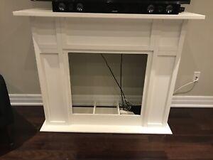 Modern White Fireplace Surround