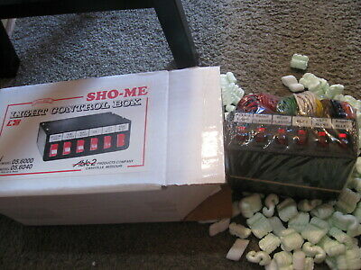 New Vintage Police Security Sho-me Light Control Box 6 Position  05.6000