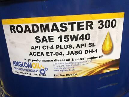 ANGLOMOIL ROADMASTER SAE 15W40 TRUCK OIL 200 LTS
