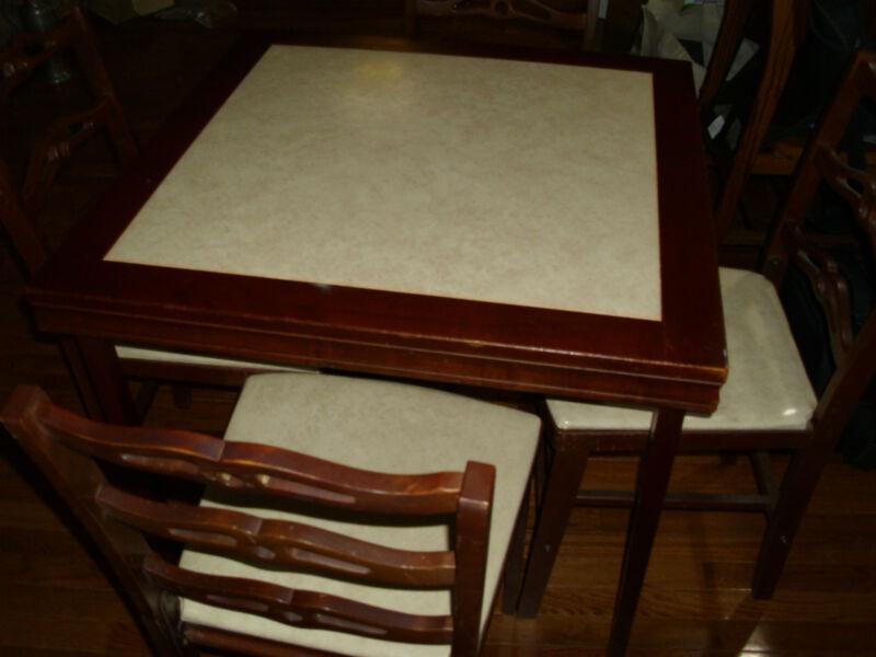 Card Table Folding Antique Ebay