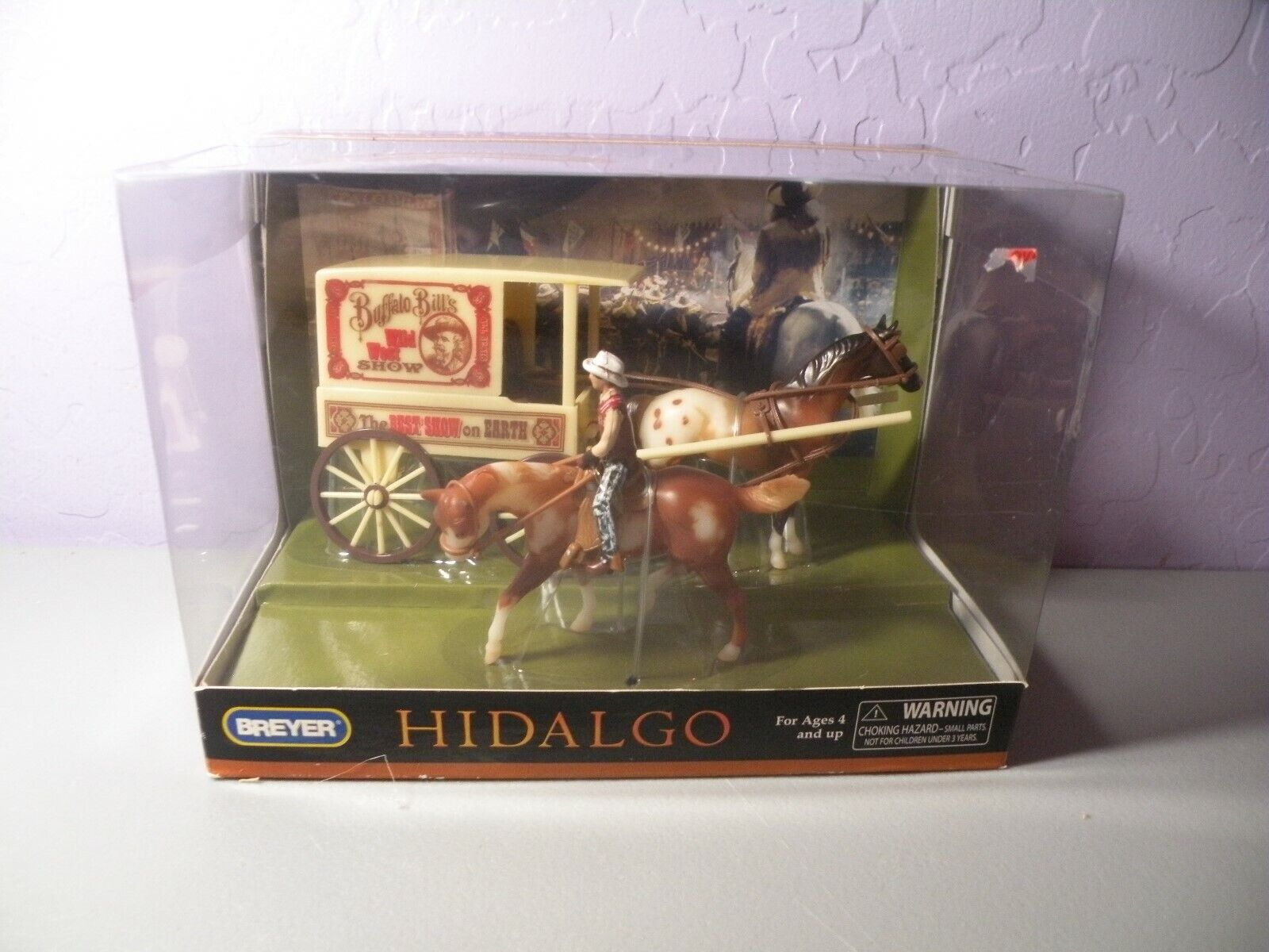 Breyer Stablemates Hidalgo Buffalo Bill Show Play Set NIB