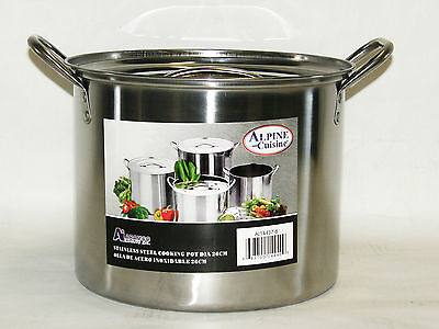 Stainless Steel Stock Pot 8 QT Quart 2 Gallon Soup Chili Pas