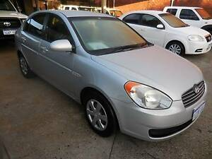 2007 Hyundai Accent Sedan SLX 81000KMS $50.00PW Highgate Perth City Area Preview