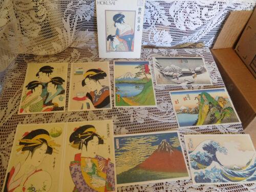 9 Vintage Japanese PostCards ~MASTERPIECES of UKIYOE Art Japan ~ FREE SHIP