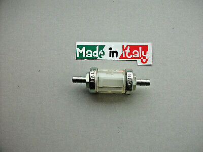 Motorcycle Inline Petrol Filter  5mm 6 mm  Washable Japanese and British Bikes