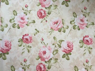 Romantischer Rosenstoff Angelique, Digitaldruck, Baumwolle, Breite 280cm