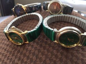 Green Tourmaline Black Tourmaline Watches