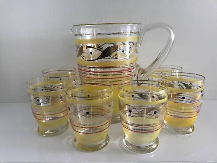 1950s Jug and 6 Glasses