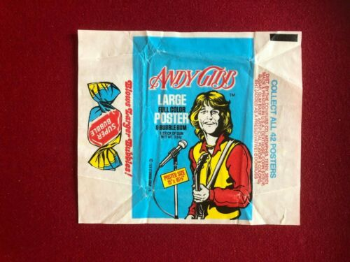 """1978, Andy Gibb (BEE GEES), """"Donruss"""" Trading Card Wrapper (Scarce / Vintage)"""