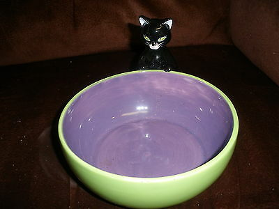 Black Cat Candy, Or Dip Serving Bowl By Harry &David For Halloween ()