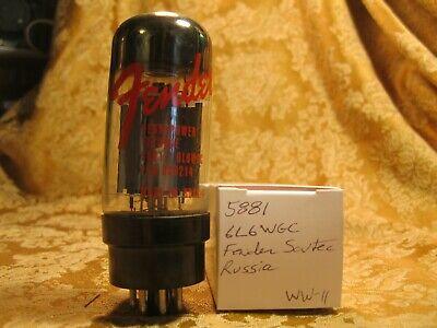 Single Fender Sovtec 5881 6L6WGC Vacuum Tube Bitmatic Tested  Russia