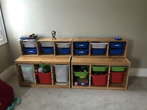 Kids desk and toy organizer