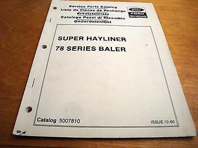 New Holland Super 78 S78 Hayliner Baler Parts Catalog List Book Manual Nh Oem