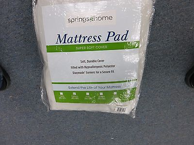SPRINGS Deluxe Quilted MATTRESS PAD TWIN XL Hypoallergenic 39 X 80 STAYMADE  NEW ()