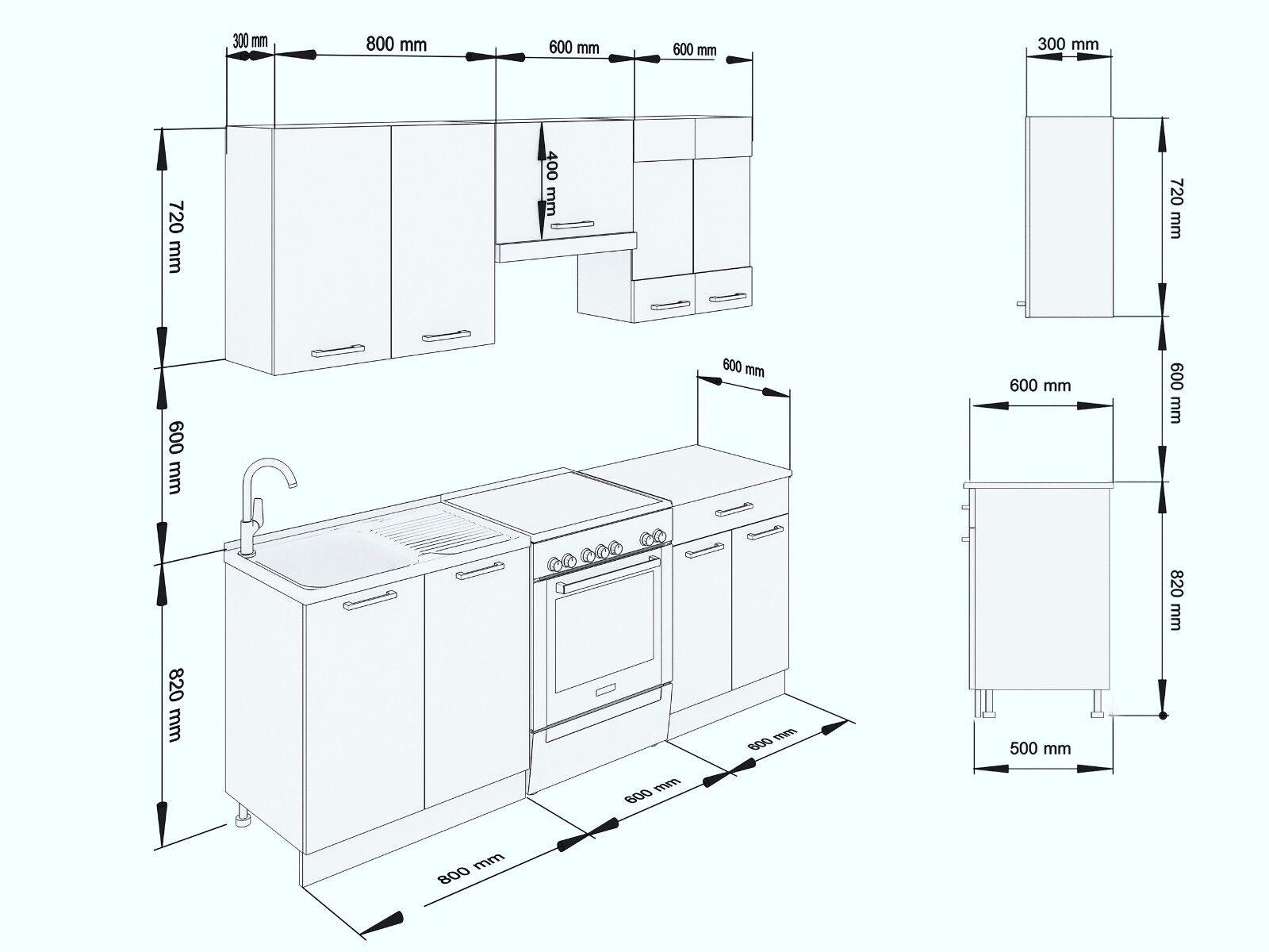 neu k che martha wei lack 200 cm k chenzeile k chenblock. Black Bedroom Furniture Sets. Home Design Ideas