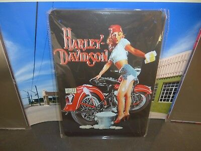 Harley Davidson Room Decor (Harley Davidson metal tin sign 20x30 cms Decorate your room,bar,garage,mancave)
