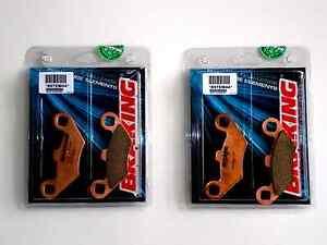 BRAKING-4-PASTILLAS-DE-FRENO-DELANTERO-SINTER-para-POLARIS-500-ATV-PRO-4x4-2002