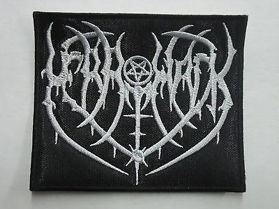 Merrimack Black Metal Embroidered Patch