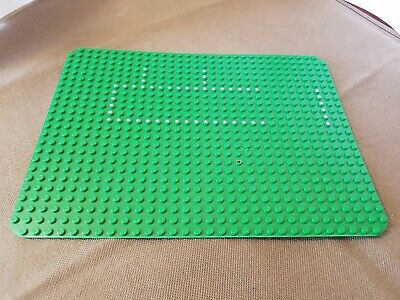 Vintage 1975 Lego Green Grass Baseplate 24 x 32 w/ Hospital Set 363/555 Dots B
