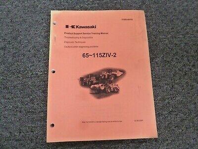 Kawasaki 65ziv-2 Wheel Loader Troubleshooting Diagnostics Shop Service Manual