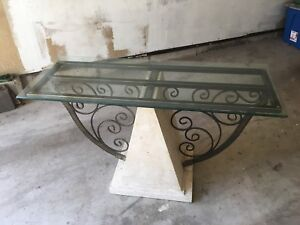 Metal and Stone Decorator Table