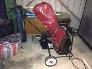 Golf Clubs with Trolly
