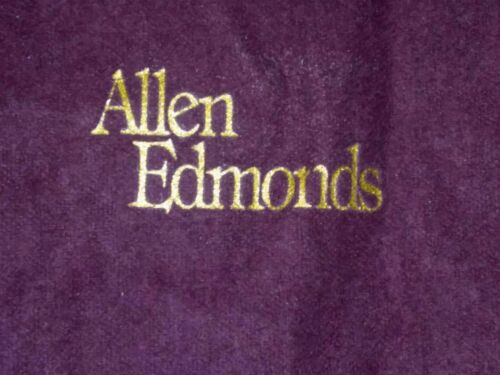 TO-018 Allen Edmonds Felt Shoe Bags Vintage Lot of Two Bags One missing Drawstng