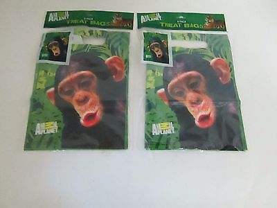 Animal Planet Monkey Party Goody Treat Bags - - Animal Planet Party Supplies