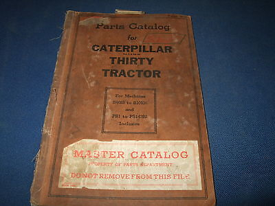 Cat Caterpillar Thirty Tractor Parts Book Manual S4683-s10536 Ps1-ps14292