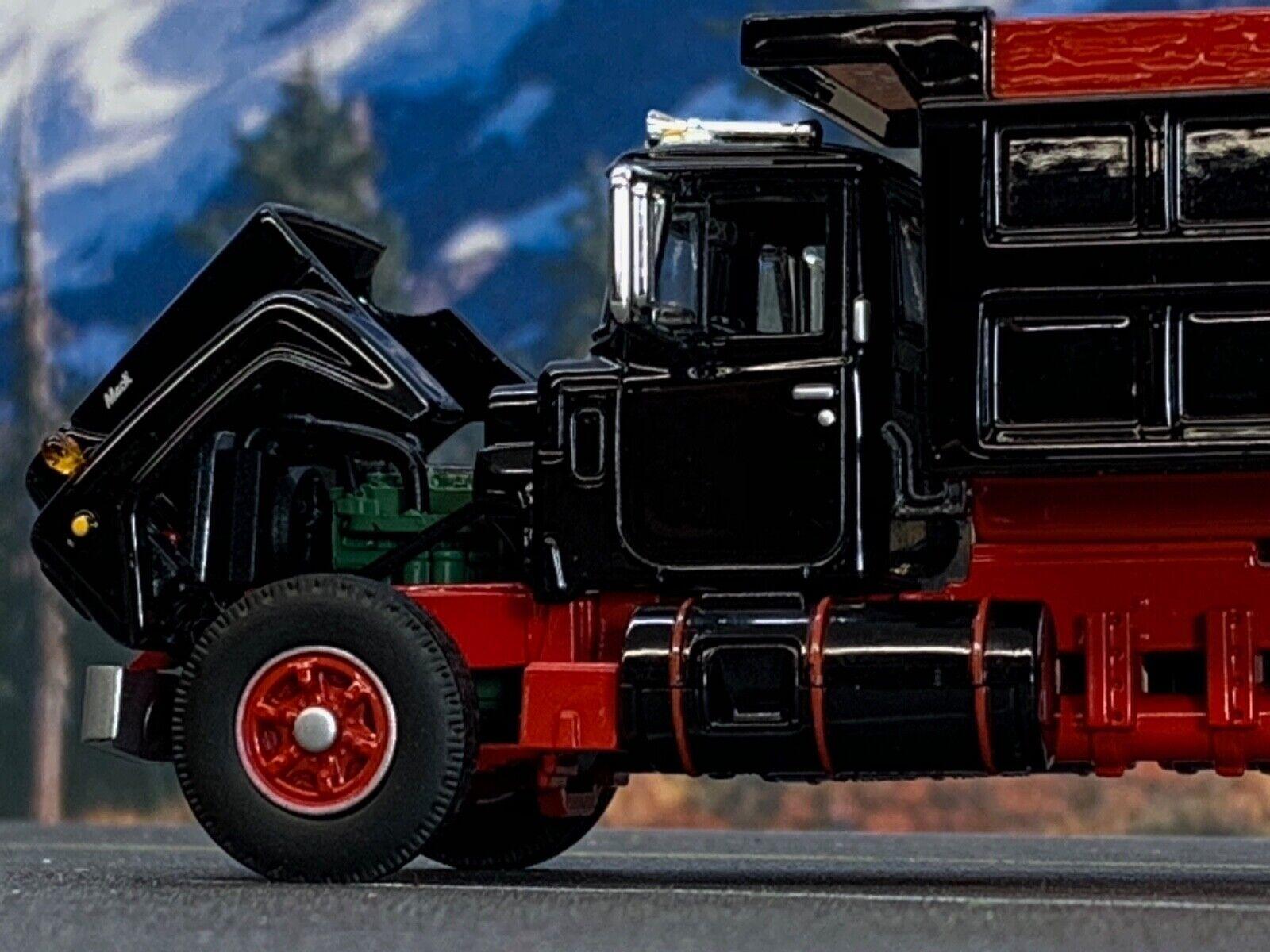 1/64 DCP FIRST GEAR BLACK/RED MACK R DUMP TRUCK 3