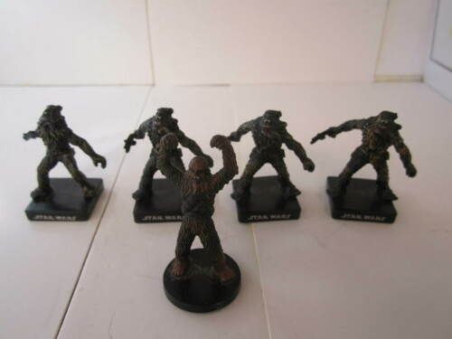 Star Wars Miniatures Lot  Wookie Soldier Wookie Freedom Fighter-NO CARDS-