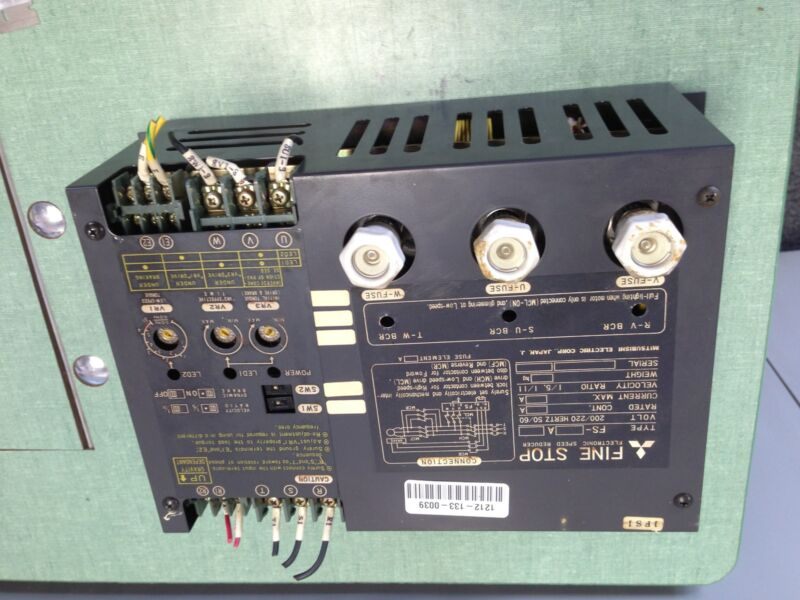 USED RELIANCE ELECTRIC FS-A ELECTRONIC SPEED REDUCER, 200/220 V FINE STOP