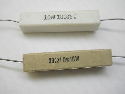 51 Ohm 10 Watt 5 Cement Power Resistor Nosnew Old Stockqty 10 Ead3