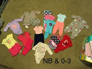 New Born and 0-3 month girl clothing lot
