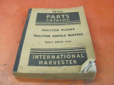 International Harvester Tractor Plows Middle Busters Parts Catalog - 85-po